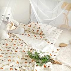 분리형 순면 낮잠이불세트/가방 - 회전목마