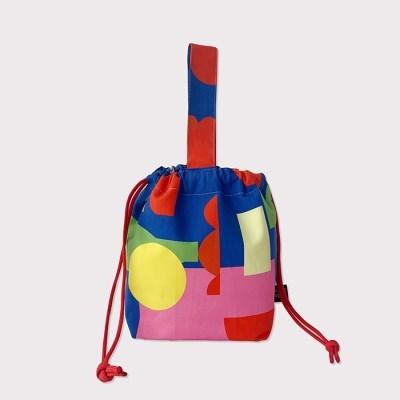 Blue flower string bag