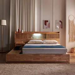 잉글랜더 클림트 LED 원목 평상형 수납 침대(DH 7존 독_(12791683)