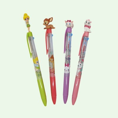 디즈니 캐릭터 친구들 3색 볼펜