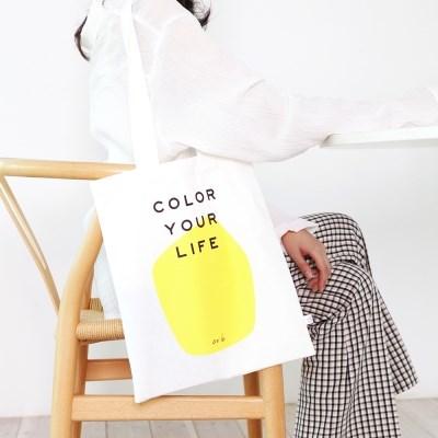 COLOR YOUR LIFE BAG_YELLOW PRINT