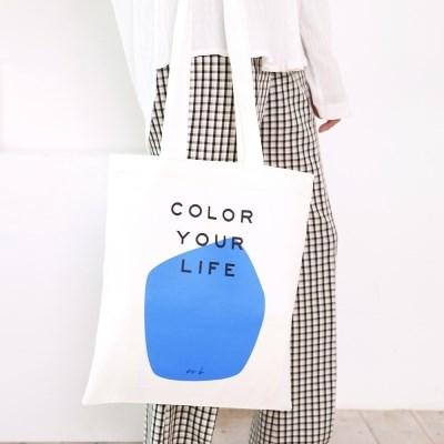 COLOR YOUR LIFE BAG_BLUE PRINT