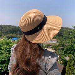 데일리 밀짚 여름 버킷햇 오리챙 지사 모자