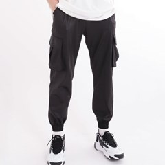 (UNISEX)Mesh DIA Cargo-Jogger Pants(BLACK)