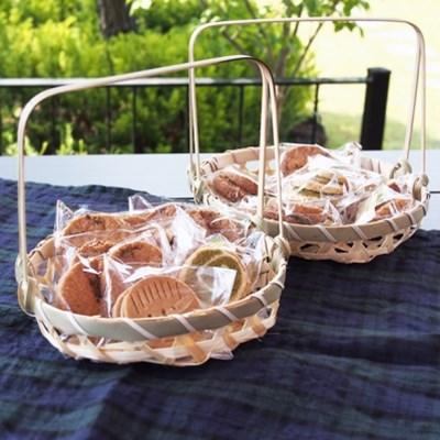 대나무 손잡이 바스켓 3세트 (소품바스켓, 진열바구니, 빵바구니)