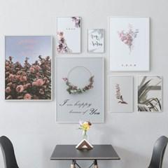 북유럽 모던 보태니컬아트 카페 인테리어 식물 꽃 그림 액자 8종
