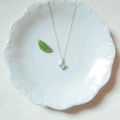 Summer palette  necklace - Green aventurine