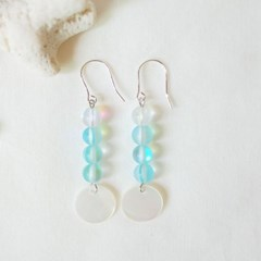 Summer moonlight earrings  - Sea blue