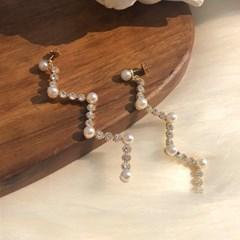 센수 비비에 예쁜 보석 진주귀찌 귀걸이 SENSOO_(184051)