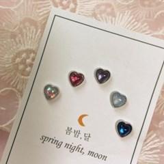 [봄밤달] 마음의 온도 써지컬 피어싱 (귀걸이침 변경가능)
