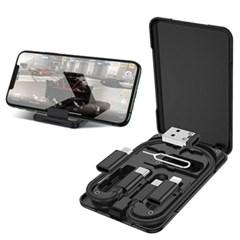6in1 휴대폰 멀티 충전 케이블  스마트폰 거치대  케이블 박스