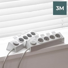 라이프썸 이지클릭 멀티탭 4구 3M (LFS-HA21) 라이트그레이