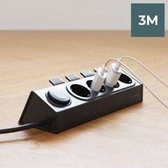 라이프썸 이지클릭 멀티탭 4구  3M (LFS-HA21) 다크그레이