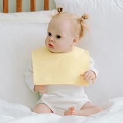 턱받이 파스텔옐로우사각턱받이 아기 침받이 빕