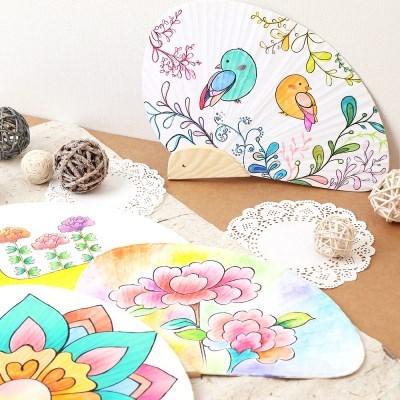 조개 부채만들기 색칠공부