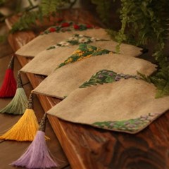 모네의 정원 자수 티코스터 만들기