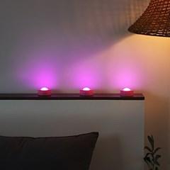 리모컨 무선 터치등 핑크빛