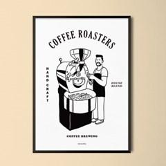 로스터리 카페 M 유니크 인테리어 디자인 포스터 커피