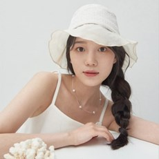 [가니송] Tweed-organza Bucket Hat_ivory