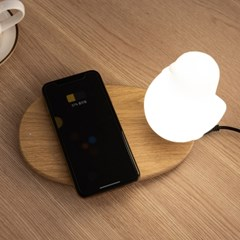 버디 스마트폰 무선 충전겸용 LED 무드등 수유등 SL-B03
