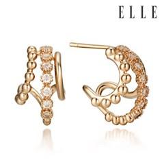 14K 쓰리 라인 포인트 귀걸이 (gold pin) ELGPEE277_(1001465)