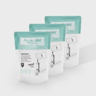 생활쉼표 다목적 살균 세척제 어메이징 워터 300ml 리필 3P
