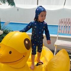 오) 공룡 아동 래쉬가드-보넷포함