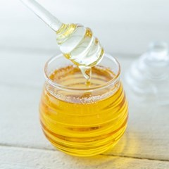 꿀 유리통 스푼세트 300ml