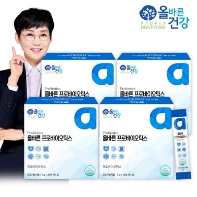 [올바른 건강] 올바른 프로바이오틱스 30포*4박스(4개월분/120포)