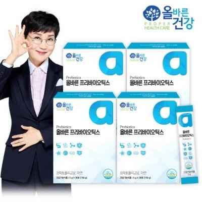 [올바른 건강] 올바른 프리바이오틱스 30포*4박스(4개월분/120포)