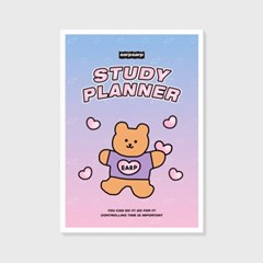 Bear heart-purple/pink(study planner)_(1617117)