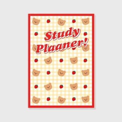 Dot strawberry check-ivory(study planner)_(1617116)