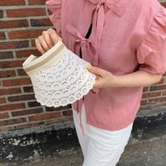 레이스 챙 여름 모자 여성 선캡