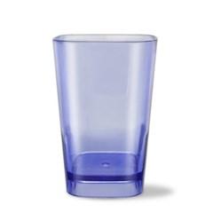 사각라운드 PC컵-360ml(12oz/블루)-1P 홈카페 물컵 투명플라스틱컵