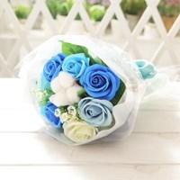 코튼 로즈 꽃다발 블루 로즈데이 성년의날 부부의날_(2666251)