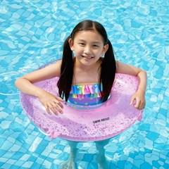 스윔어바웃 어린이 핑크 반짝이 원형 튜브 75cm_(2907302)