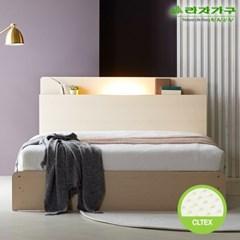 라자가구 오브 가인 LED 수납형 독립CL텍스 Q 침대 DM8857