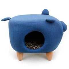 펫모닝 블루돼지 고양이 하우스 인테리어 가구