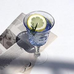 에메랄드 고블렛 유리컵