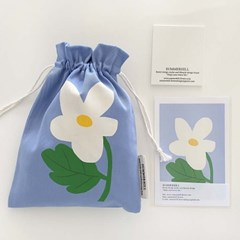 white flower pouch