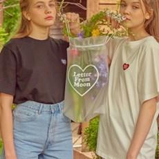 [레터프롬문] (1+1) 하트 반팔 티셔츠 패키지