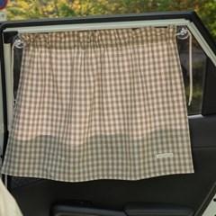 커튼형 차량용 햇빛가리개_멜란체크