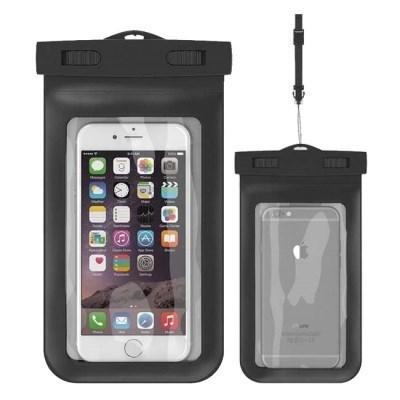 뷰에스피 IPX 8등급 스마트폰 핸드폰 방수팩 블랙 1개