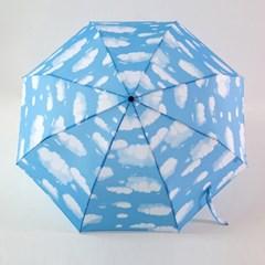 [더로라]- 가벼운 알루미늄 3단수동 우산-구름하늘 E005