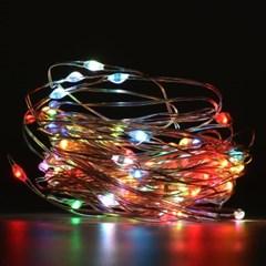 LED 큐빅 은하수장식 100구 은색선 USB케이블 (RGB색)