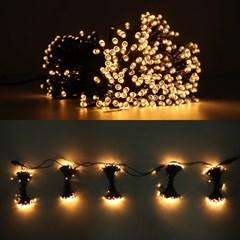 LED 은하수 76구 5조 15W 검정선 무점멸기 (전구색)
