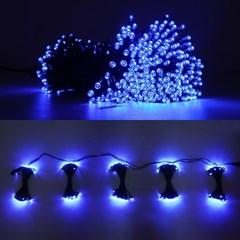 LED 은하수 76구 5조 15W 검정선 무점멸기 (청색)