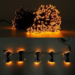LED 은하수 76구 5조 15W 검정선 무점멸기 (황색)