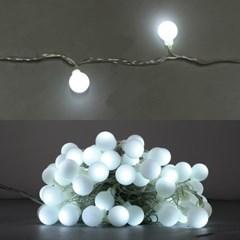 LED 볼츄리 100구 6W 투명선 점멸기 (백색)