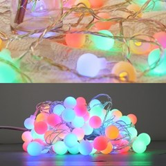 LED 볼츄리 100구 6W 투명선 점멸기 (혼합칼라)